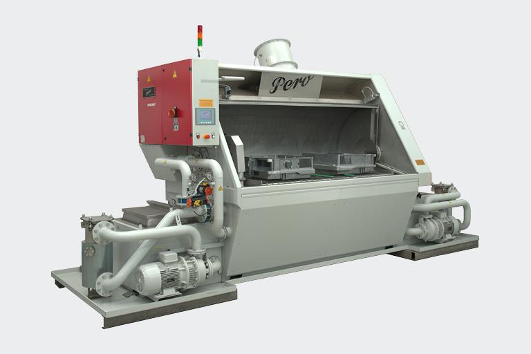 Die Modelle der PERO Baureihe ROBOMAT sind für die Reinigung vielfältiger Teile ausgelegt